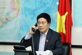 Phó Thủ tướng Phạm Bình Minh điện đàm với Ngoại trưởng Kerry