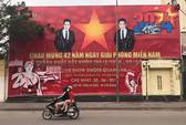 Quán bar dùng hình ảnh quốc kỳ quảng cáo Liveshow Quang Hà