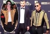 Depay mặc như huyền thoại Michael Jackson đi nhận giải