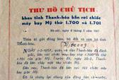Những bức thư đượm tình Bác Hồ với quân, dân Thanh Hóa