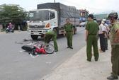 Xe tải tông xe máy, 1 phụ nữ bị lột toàn bộ da đầu
