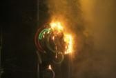 Đèn trang trí ở trung tâm Sài Gòn cháy, nổ