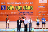 Bóng bàn nữ Thái Lan thắng lớn ở Giải Cây vợt vàng 2017