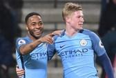 Sterling tỏa sáng, Man City giành lại ngôi nhì bảng
