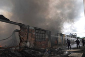 Cháy lớn ở Long An, hai công ty thành tro
