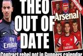 Walcott, Sagna mất hút trong bộ lịch 2013 của Arsenal