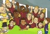 Biếm họa vui sau trận Barca đại thắng Milan