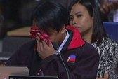 Trưởng đoàn Philippines bật khóc tại hội nghị môi trường