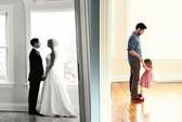 Xúc động cha tái hiện ảnh cưới cùng con gái nhỏ