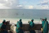 Tự vệ Trường Sa tập bắn mục tiêu trên biển