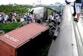 Tàu hỏa tông container, đường sắt Hà Nội - Hải Phòng bị cắt đứt