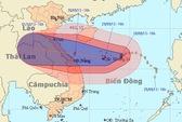 Bão số 10 giật tới cấp 15 tăng tốc vào miền Trung