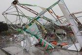 Bão Haiyan làm 3 người mất tích, quật đổ tháp truyền hình cao hơn 50 m