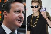 """Thủ tướng Anh """"bán"""" Justin Bieber hơn 325 triệu đồng"""