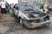 Thanh Hóa: Ô tô đang chạy bỗng bốc cháy