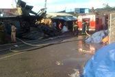 Hậu Giang: Cháy lớn ở chợ Ngã Sáu