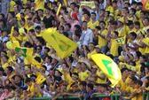 V-League Eximbank 2013: CĐV SLNA nhuộm vàng sân Gò Đậu