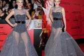 Jennifer Lawrence cuốn hút với đầm lưới