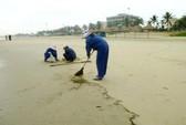 Đà Nẵng: Dầu vón cục làm bẩn các bãi tắm trọng điểm