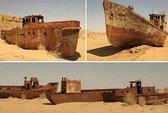 Con tàu ma phơi mình trên sa mạc