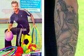 Beckham gặp vạ vì hình xăm khêu gợi