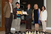 Lê Quang Liêm nhận học bổng từ Đại học Mỹ