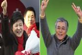 Bầu cử tổng thống Hàn Quốc bắt đầu trong giá lạnh