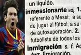 Messi đi vào từ điển