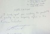 Snowden nộp đơn xin tị nạn ở Nga