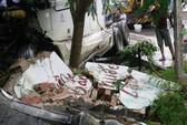 Xe container mất lái tông thẳng vào 3 nhà dân
