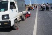 Cán qua chân cô gái trên cầu Vĩnh Tuy, tài xế xe tải bỏ chạy