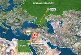 """""""Tên lửa nhắm vào máy bay Nga"""" trên bầu trời Syria"""