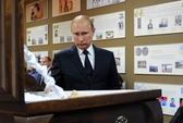 Ông Putin trốn ống kính tại lễ tang thầy