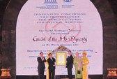 Thành nhà Hồ đón nhận bằng Di sản văn hóa thế giới