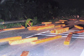 Khởi tố vụ vận chuyển gỗ lậu, chống trả công an