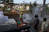 Đà Lạt: Cháy biệt thự, nhiều nhà rúng động