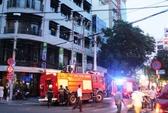 Cháy tại tòa nhà 7 tầng giữa trung tâm TP