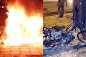 Châm lửa đốt xe khi bị CSGT phạt