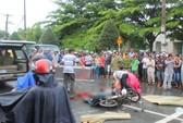 Phóng xe lúc trời mưa tông xe tải, một người chết