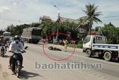 Băng qua đường, một người bị xe tải cán chết