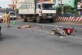 Bị xe ben kéo 20m, một phụ nữ tử vong