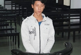 Chém công an, bị tù 12 tháng