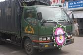 Xe cảnh sát cơ động phục vụ đám tang