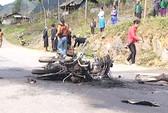 Tông nhau làm nổ xe, 3 người chết cháy