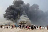 Mỹ: Cháy lớn tại nơi siêu bão Sandy từng tàn phá