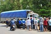 Xe thanh tra giao thông ép xe tải gây tai nạn