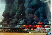 Tiền Giang: Cháy rụi chợ trái cây Thạnh Trị