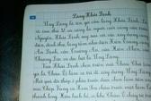 Vở luyện chữ đẹp của NXB Giáo Dục sai kiến thức