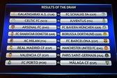 M.U đối đầu Real Madrid, Milan chạm trán Barcelona