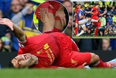 Đạp Suarez rướm máu, Mirallas vẫn thoát thẻ đỏ
